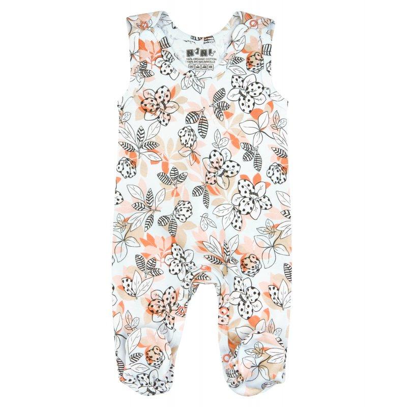 NINI Kolorowe śpiochy niemowlęce z bawełny organicznej dla dziewczynki MAGNOLIA NINI - 1