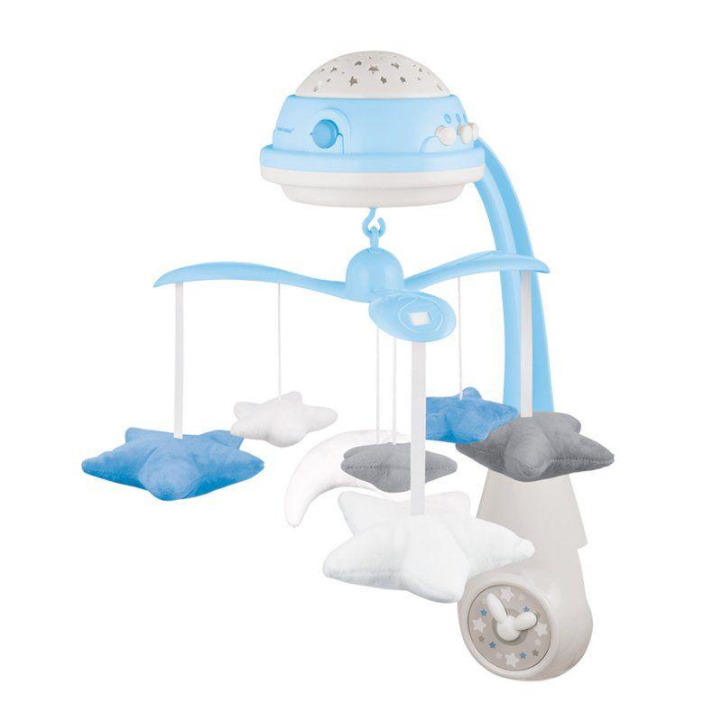 Canpol babies karuzela elektryczna z projektorem i pozytywką niebieska Babyono - 1