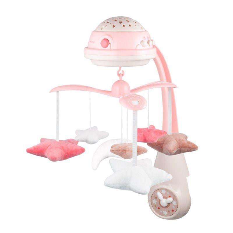 Canpol babies karuzela elektryczna z projektorem i pozytywką różowa Babyono - 1