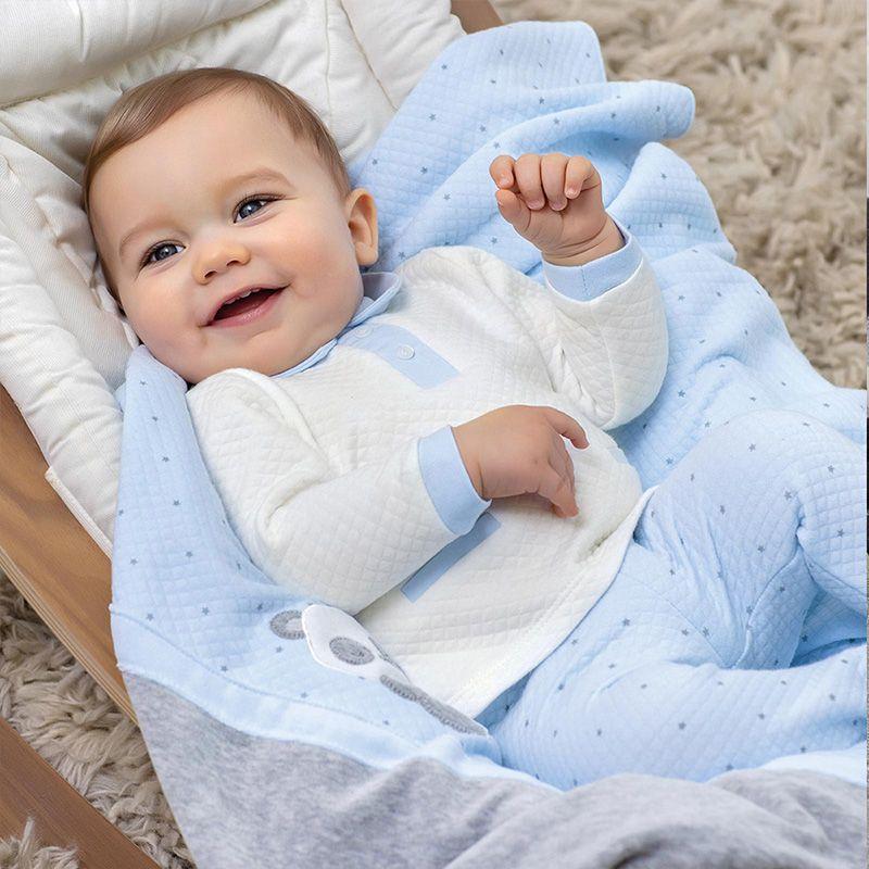 Mayoral Komplet z półśpioszkami dla noworodka chłopca 2553 col.41 Mayoral - 1