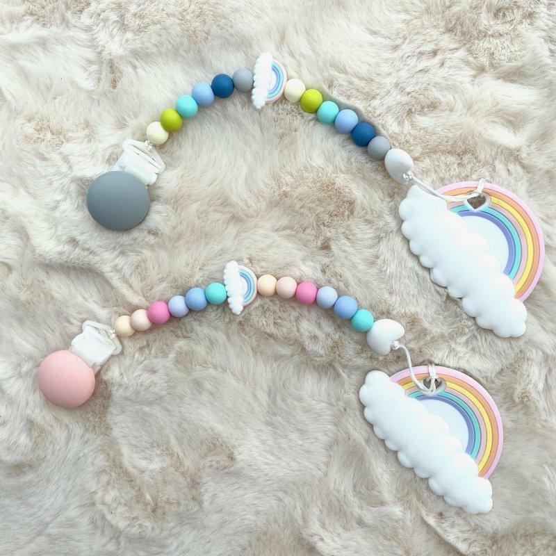 CHMURKOWE LOVE Zawieszko-gryzak z zapięciem silikonowym Sweet Dreams Candy Blue Chmurkowe love - 1